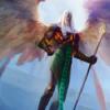 【アモンケット】出た時に対戦相手のパーマネントを追放する白の神話天使!