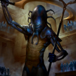 【破滅の刻】占術、ライフルーズ、墓地からコピーを出す能力を持つ青黒神!